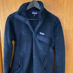 Patagonia Re-Tool Snap-T Fleece Pullover in Navy